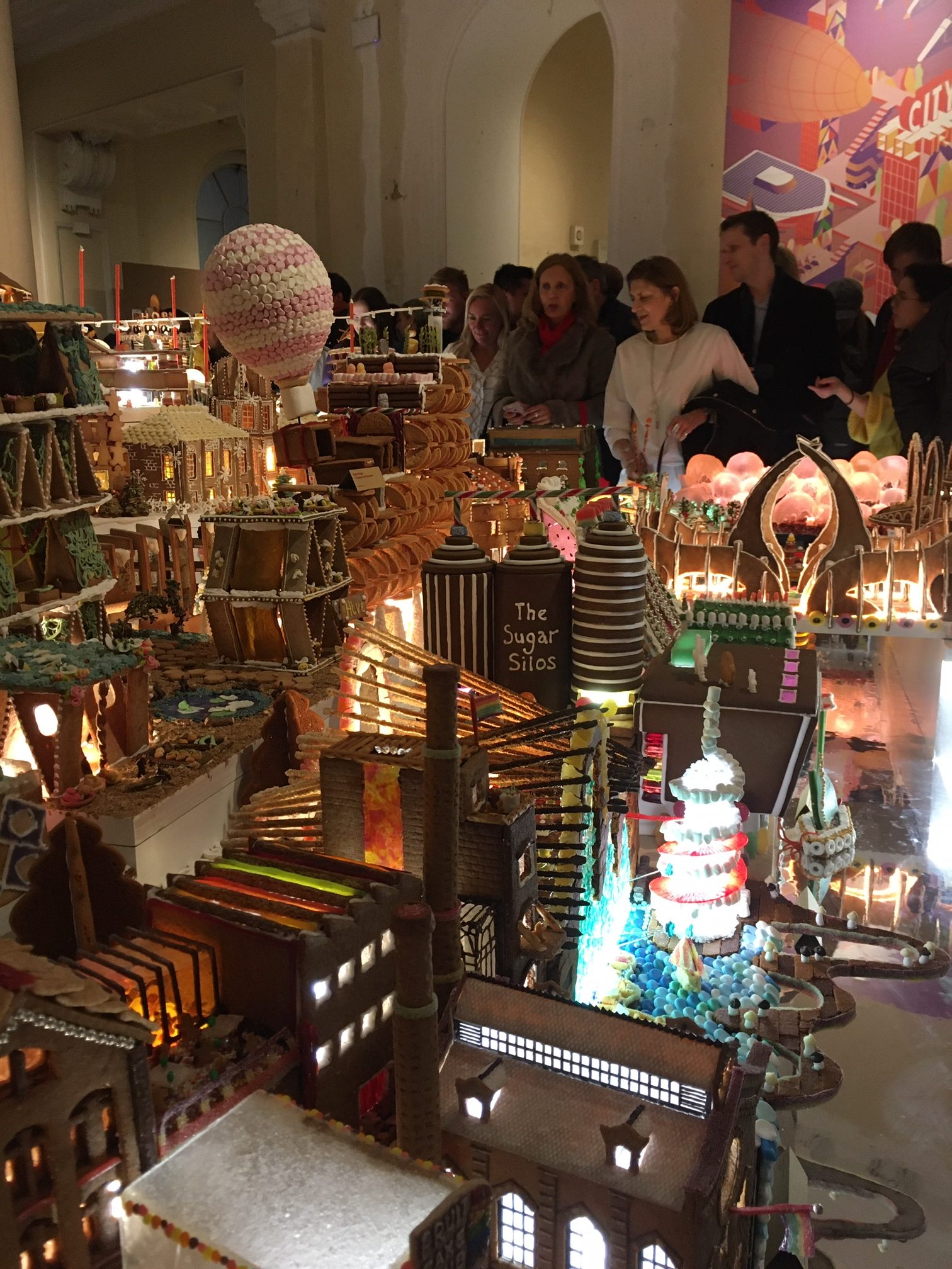 Gingerbread City - sugar silos Hynes-Laitt